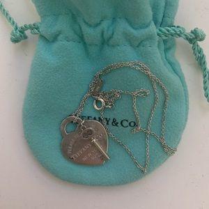 Tiffany & Co. heart lock silver necklace